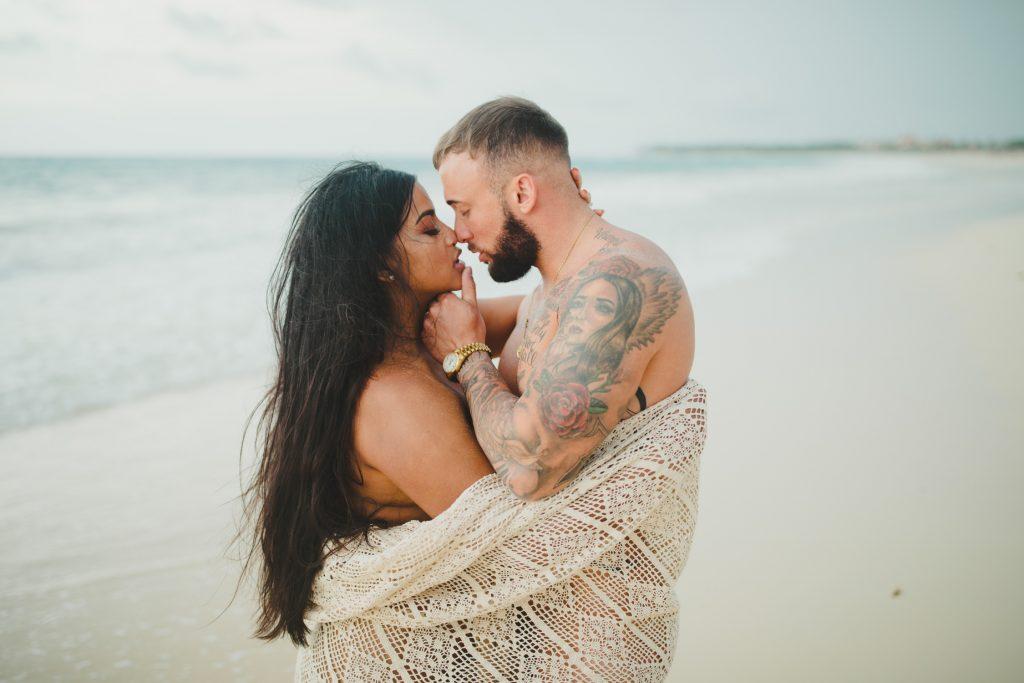 intimate sensual photos punta cana honeymoon